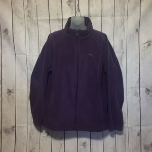 Columbia Full Zip Fleece Jacket Womens 2X Purple